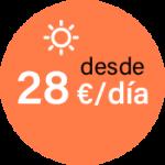 Desde 28 Euros día